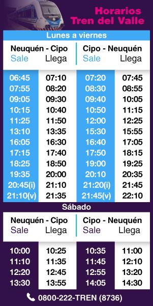 Horarios Tren del Valle