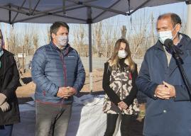 Gutierrez recorrió obras en el oeste de la ciudad de Neuquén